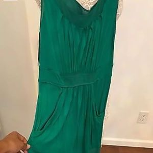 BCBG MAXAZRIA EMERALD GREEN DRESS SZ XSP